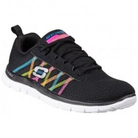 Womens Black/Multi Flex Appeal - Something Fun Shoes SK11885