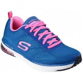 Womens Blue/Pink Skech Air Infinity Lace-Up Shoes SK12111