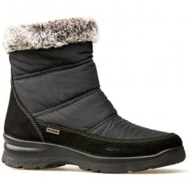 Womens Cromarty Black Suede/Nylon Waterproof Boots 1810130