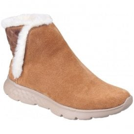 Womens Chestnut On The Go 400 - Cozies Pull on Ankle Boots SK14356