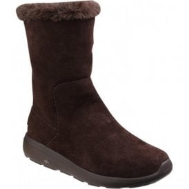 Womens Chocolate On The Go City 2 - Appealing Calf Boots SK14620