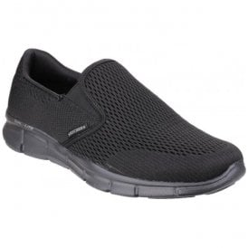 Mens Black Equalizer - Double Play Slip On Trainers 51509