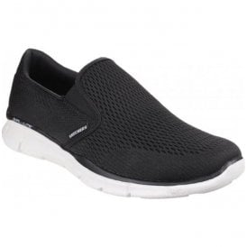 Mens Black/White Equalizer - Double Play Slip On Trainers 51509