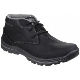 Mens Black Braver Horatio Lace-Up Boots SK64864