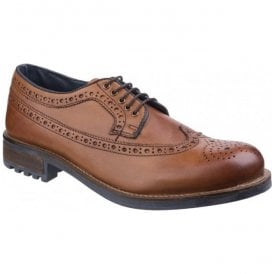 Mens Poplar Tan Lace Up Brogue Shoes