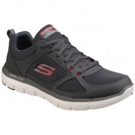 Mens Charcoal/Red Flex Advantage 2.0 Lace Up Trainers SK52189