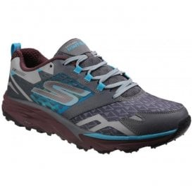 Mens Charcoal/Teal Go Trail Lace Up Trainers SK54112