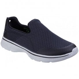 Mens Black/Grey Go Walk 4 - Expert Slip On Walking Shoes SK54155