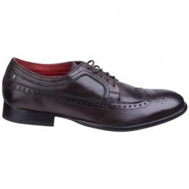 Mens Bailey Brown Burnished Wing Tip Derby Shoes