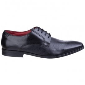 Mens Charles Waxy Black Leather Lace-Up Shoes