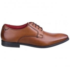 Mens Charles Waxy Tan Leather Lace-Up Shoes