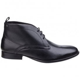 Mens Deacon Black Waxy Chukka Boots