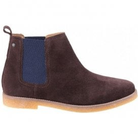 Mens Ferdinand Brown Suede Leather Ankle Boots