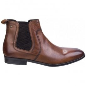Mens Floyd Tan Washed Chelsea Boots