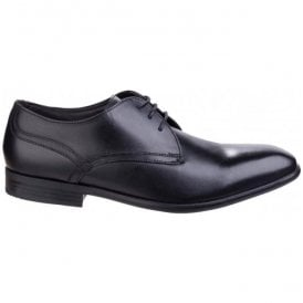 Mens Page Waxy Black Leather Formal Shoes