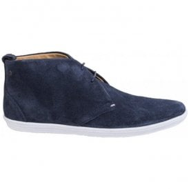 Mens Roadie Suede Navy Casual Ankle Boots