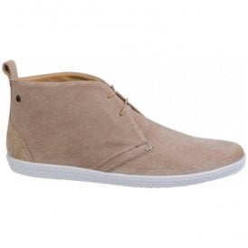 Mens Roadie Suede Taupe Casual Ankle Boots