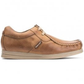 Mens Storm Crazy Tan Leather Casual Shoes