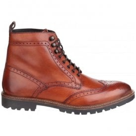 Mens Troop Tan Lace up Casual Ankle Boots