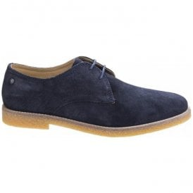Mens Whitlock Suede Navy Casual Lace-Up Shoes