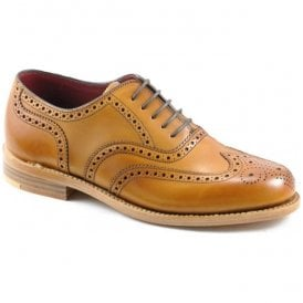 Womens Viv Tan Oxford Brogue Lace Up Shoes