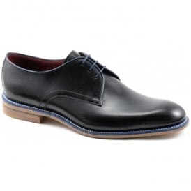 Mens Drake Black Calf Leather Lace Up Shoes