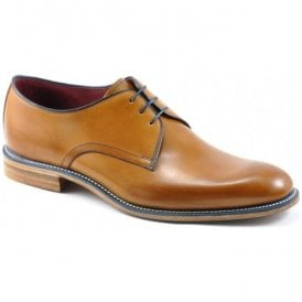 Mens Drake Tan Calf Leather Lace Up Shoes