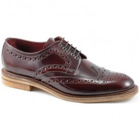 Mens Dawson Lace Up Burgundy Brogue Shoes