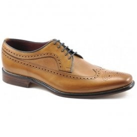 Mens Callaghan Tan Calf Punched Derby Shoes