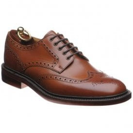 Mens Chester Dainite Mahogany Full Brogue Shoes
