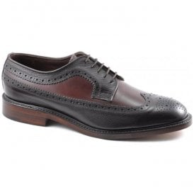 Mens Taunton Burgundy Grain Two-Tone Brogue Shoes