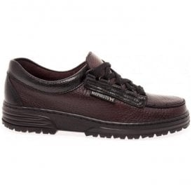 Womens Wanda Wine Leather Lace-Up Shoes