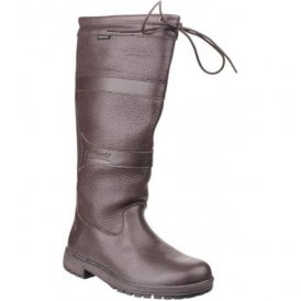 Womens Beaumont Brown Waterproof Pull on Wellington Boots