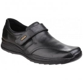 Mens Birdlip Black Waterproof Touch Fastening Shoes
