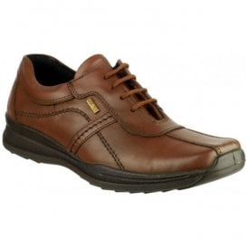 Mens Cam Brown Leather Lace Up Shoes