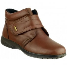 Womens Chalford Brown Velcro Ankle Boots