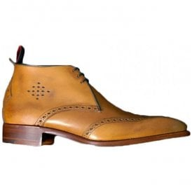 Mens Cedar Calf Moon Classic Brogue Punch Chukka Boots 4235JW02