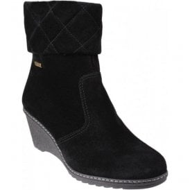 Womens Cornwell Black Waterproof Zip up Ankle Boots
