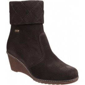 Womens Cornwell Brown Waterproof Zip up Ankle Boots
