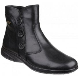Womens Dowdswell Black Leather Ankle Boots