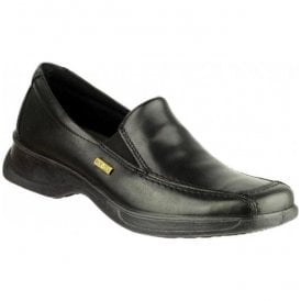 Womens Hazelton Black Waterproof Slip-On Shoes