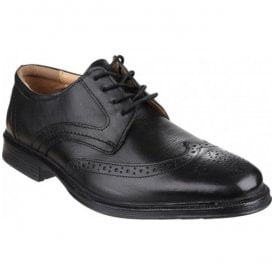 Mens Mickleton Black Lace up Brogue Shoes