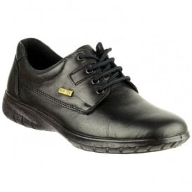 Womens Ruscombe Black Lace-up Waterproof Shoes