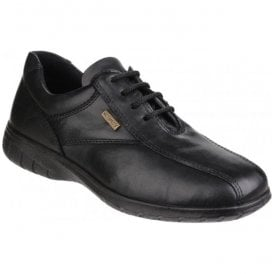 Womens Salford Black Lace-up Waterproof Shoes