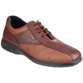 Womens Salford Brown Lace-up Waterproof Shoes