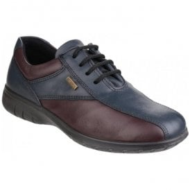 Womens Salford Navy Lace-up Waterproof Shoes