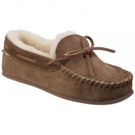 Womens Stanway Chestnut Sheepskin Moccasin Slippers