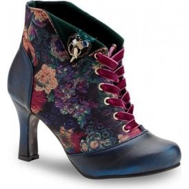 Womens Raven Blue Lace Up Ankle Boots