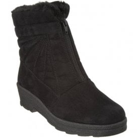 Womens 2870-90 Black Front Zip Boots