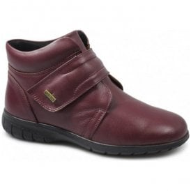 Womens Chalford Bordo Waterproof Velcro Ankle Boots